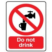 Prohibition safety sign - Do Not Drink 022